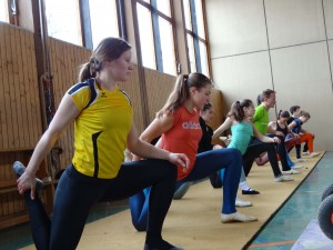 Bodentraining beim MOVIE-Lehrgang